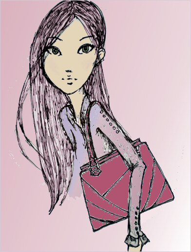 Sample Fashion Illustration of the Taryn Zhang Workaholic Tote