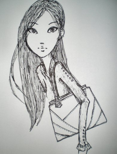 Fashion Design Sketch Illustration Sample
